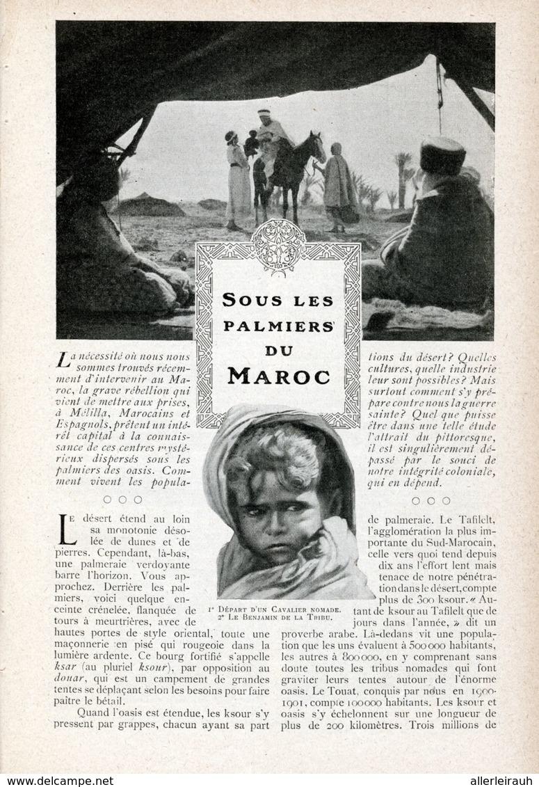Sous Les Palmieres Du Maroc /  Article, Pris D`un Magazine / 1908 - Bücher, Zeitschriften, Comics