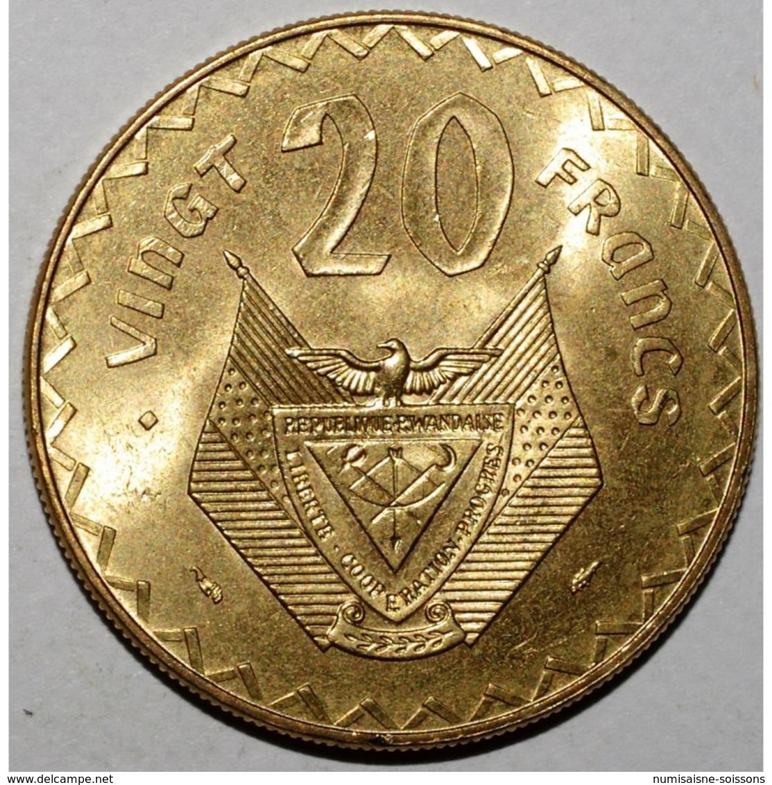 RWANDA - 20 FRANCS 1977 - FLEUR DE COIN - KM 15 - - Rwanda
