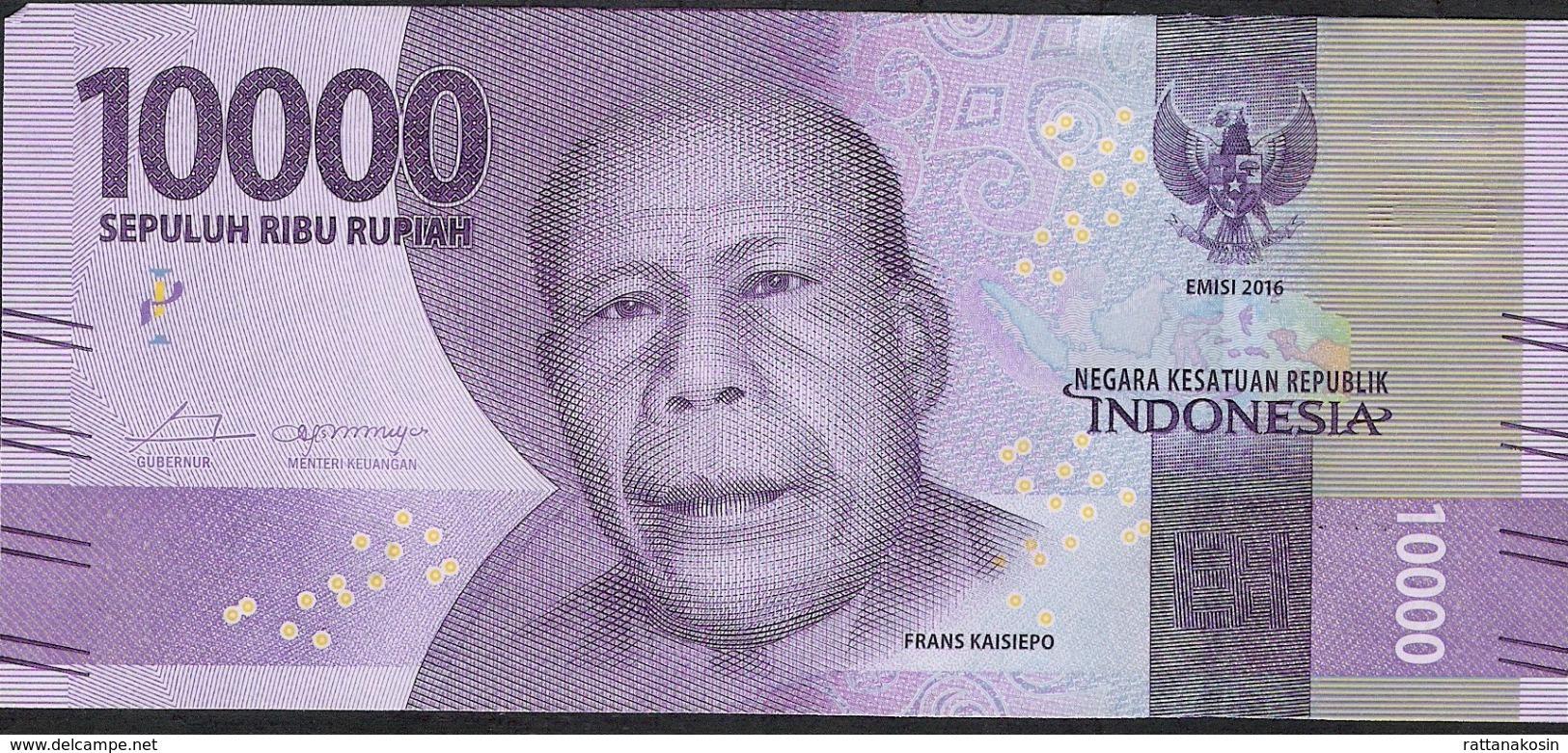 INDONESIA P157b 10.000 RUPIAH  # NAO  2016  , MICROPRINTED  2017 UNC. - Indonésie