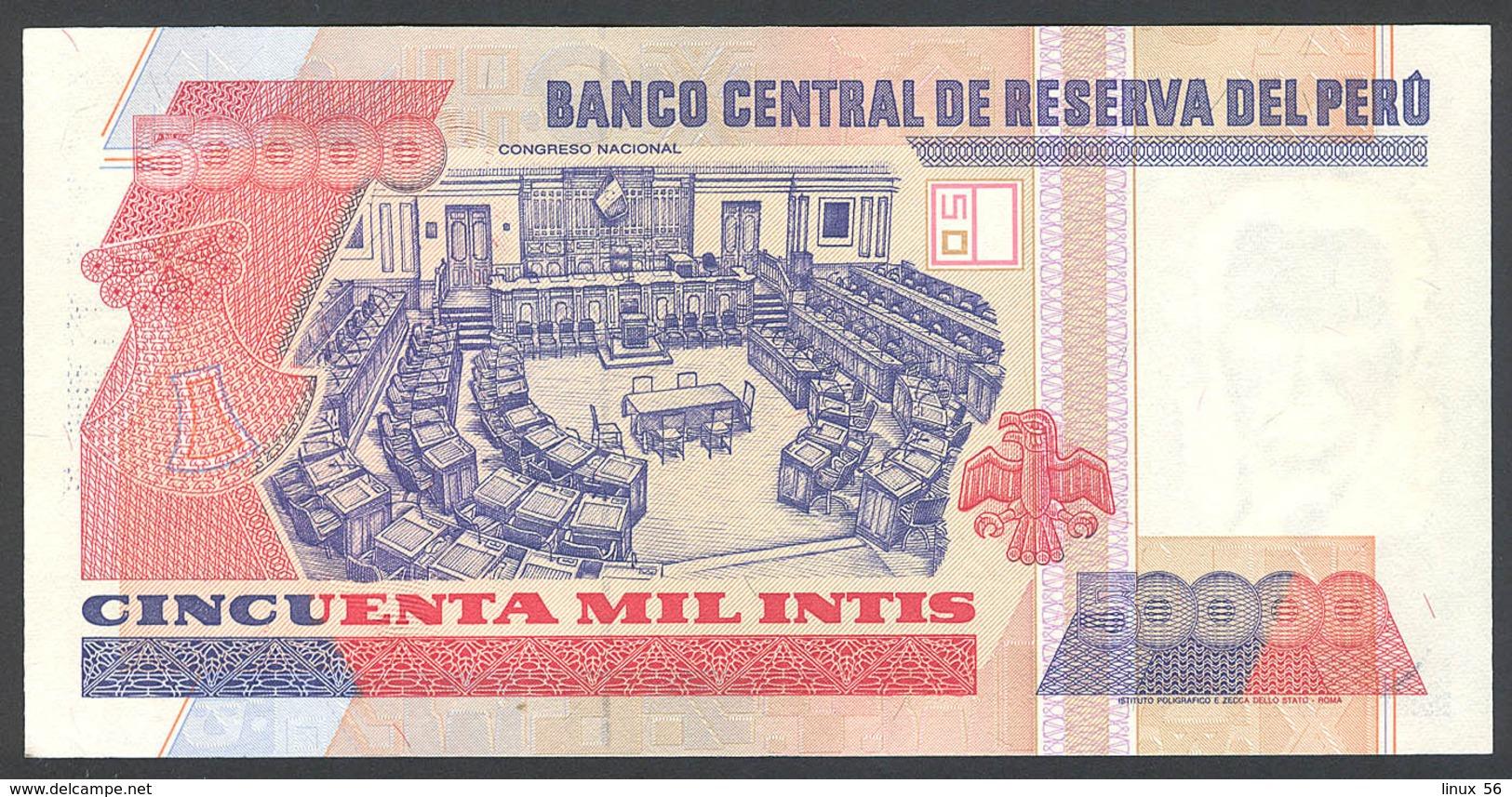 PERU' - 50.000 Intis 28.06.1988 UNC P.142 - Pérou