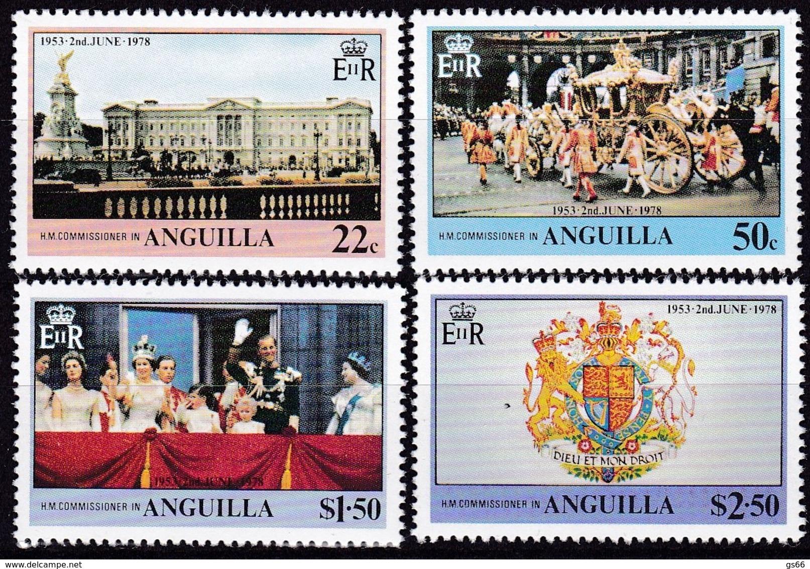 Anguilla, 1978, 313/16, 25. Jahrestag Der Krönung Von Königin Elisabeth II. MNH ** - Anguilla (1968-...)