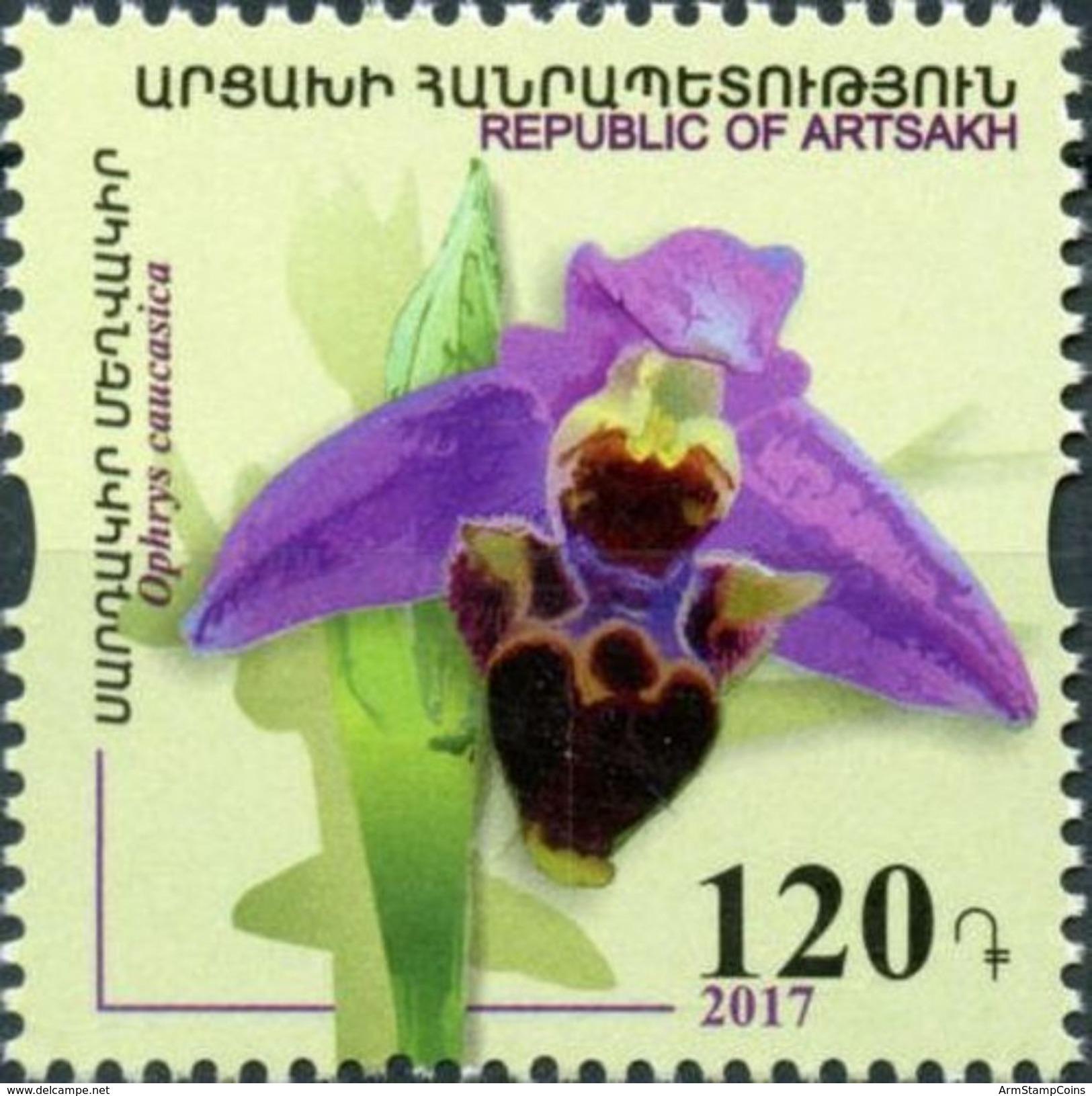 Armenia - Nagorno Karabakh Artsakh 2017 Orchids Of Artsakh Flora MNH** - Armenia