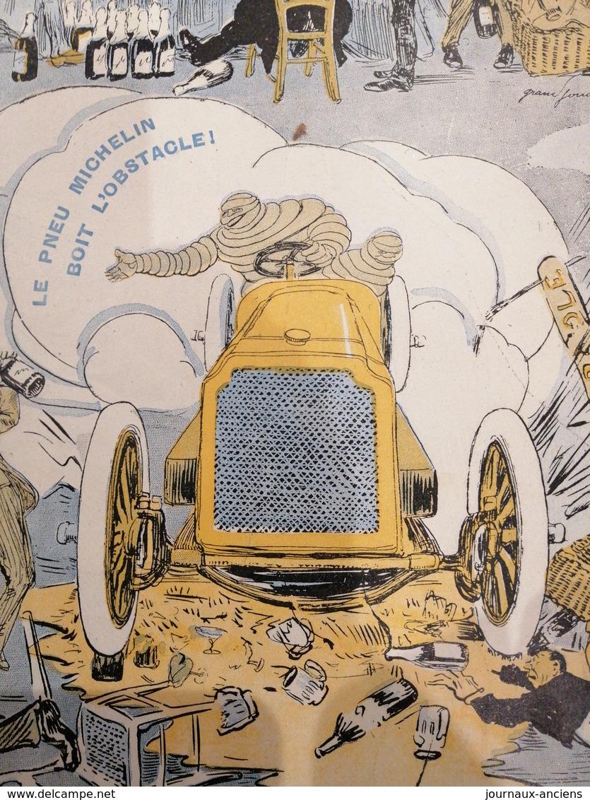 1904 LE PNEU MICHELIN BOIT L'OBSTACLE - RENAULT.- SERPOLLET - GLADIATOR - OLDSMOBILE - CHARRON GIRARDOT VOIGT - Autres