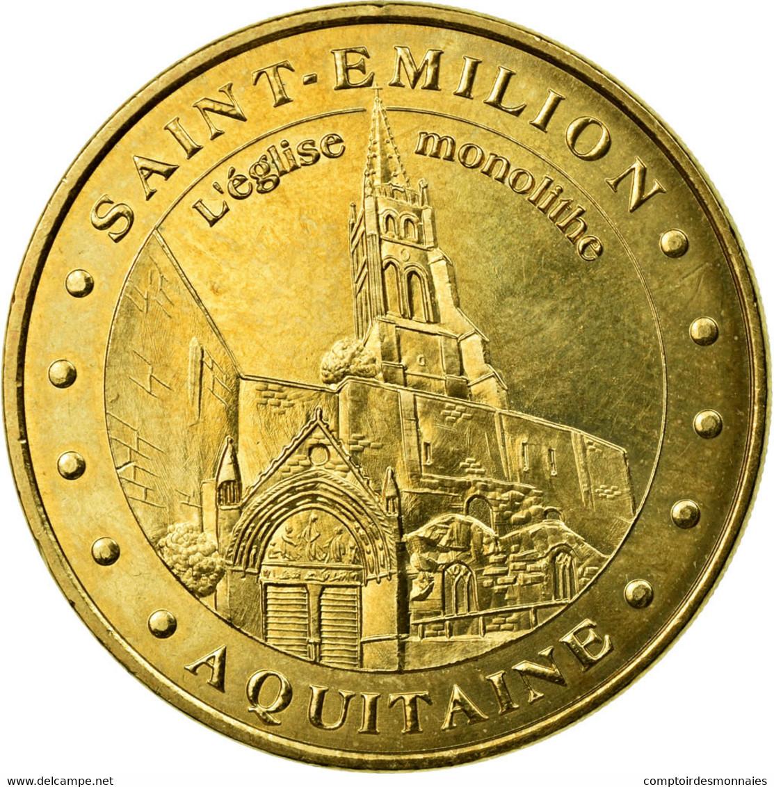 France, Jeton, 33/ Saint-Emilion - Eglise, 2010, MDP, SUP, Cupro-nickel - France