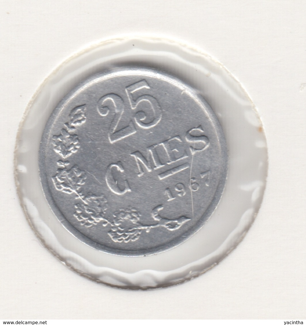 @Y@    Luxemburg  25 Centimes   1967   (4633) - Luxembourg