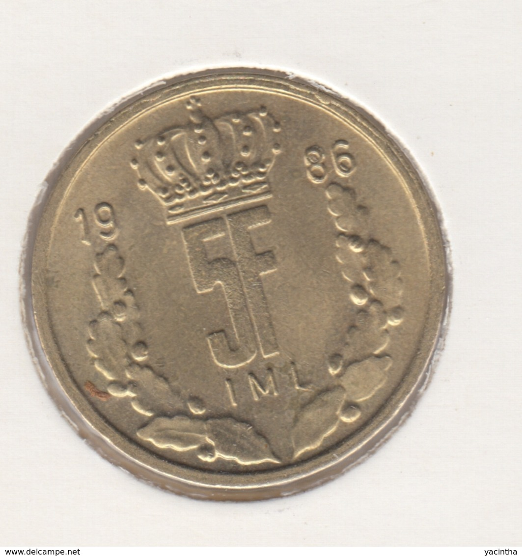 @Y@    Luxemburg  5 Franc  1986   (4630) - Luxembourg