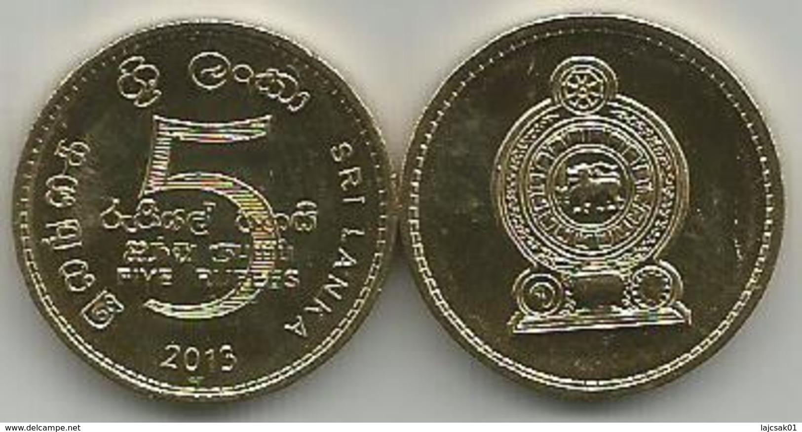Sri Lanka 5 Rupees 2013. High Grade - Sri Lanka