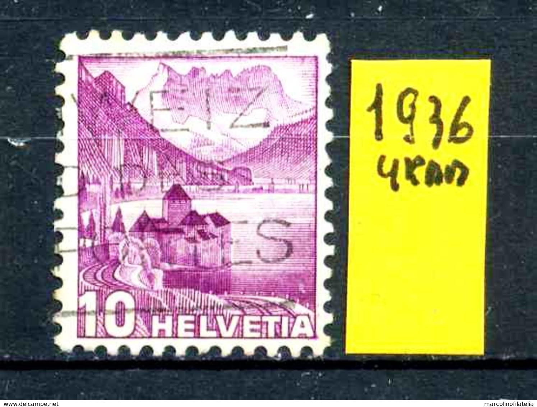 SVIZZERA - HELVETIA - Year 1936 -  Viaggiato - Traveled - Voyagè - Gereist. - Svizzera