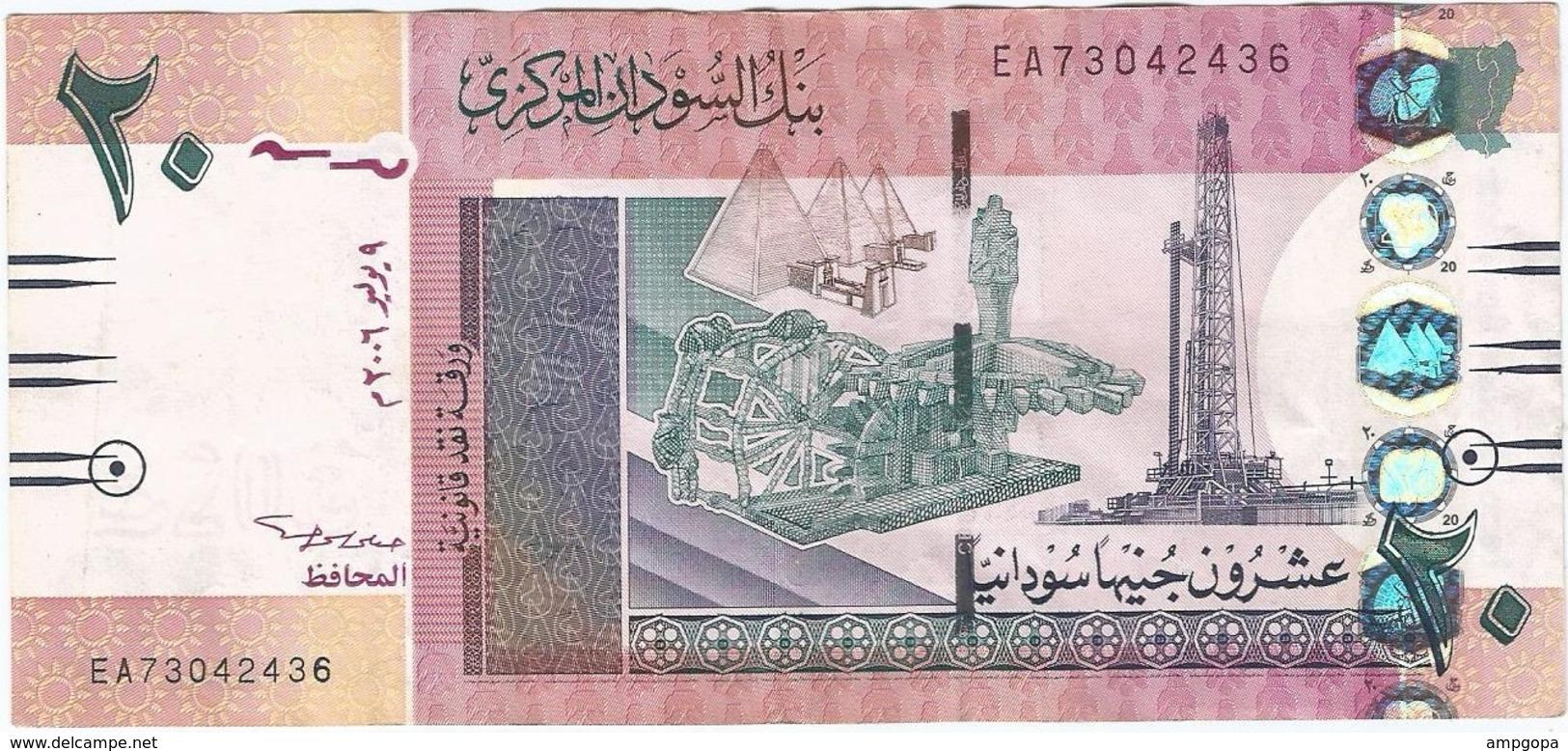 Sudán 20 Pounds 9-7-2006 Pick 68a Ref 1 - Sudan