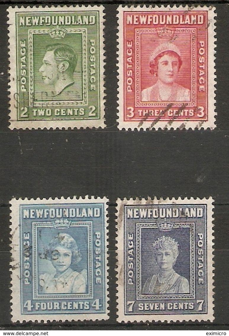 NEWFOUNDLAND 1938 SET SG 268/271 FINE USED Cat £14 - 1908-1947