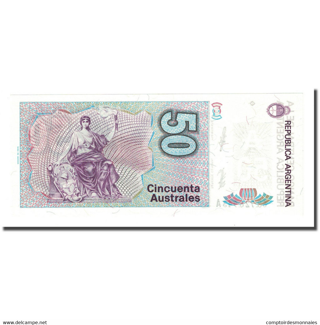 Billet, Argentine, 50 Australes, Undated ( 1986-89), KM:326a, NEUF - Argentine