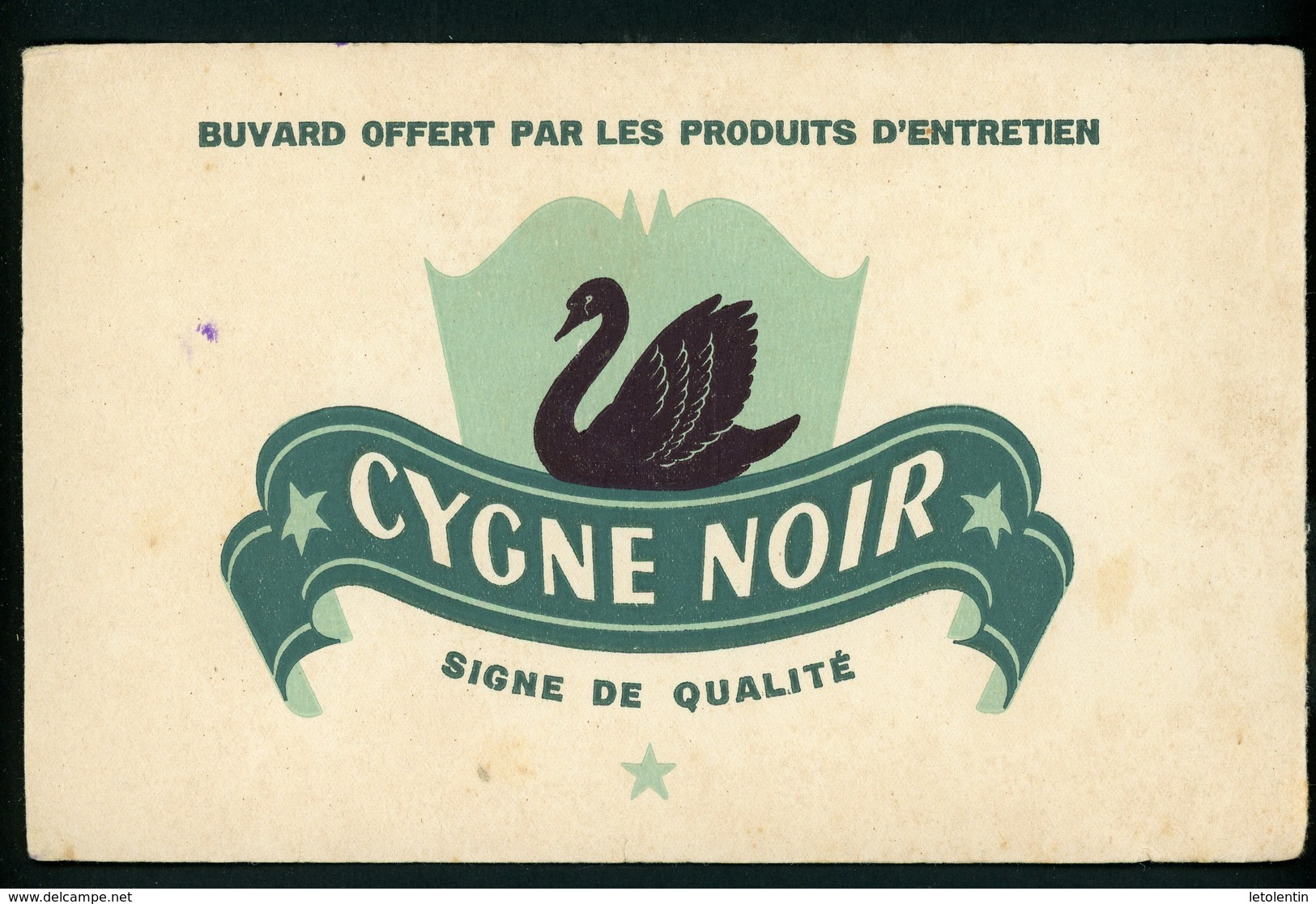 BUVARD:  CYGNE NOIR - FORMAT  Env. 13X21 Cm - Buvards, Protège-cahiers Illustrés