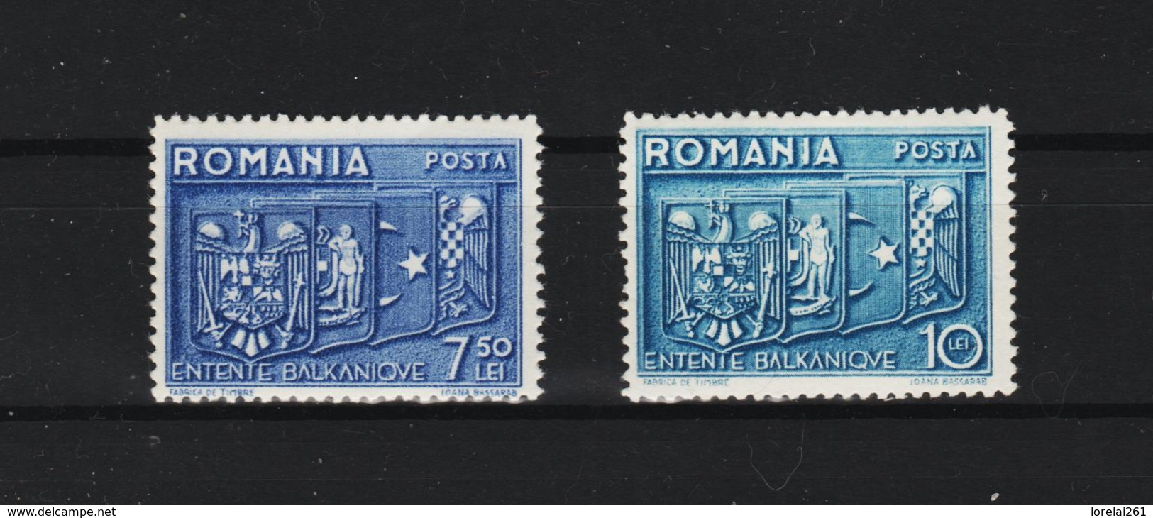 1938 - Compréhension Des Balkans Mi No 547/548  MNH - Ungebraucht