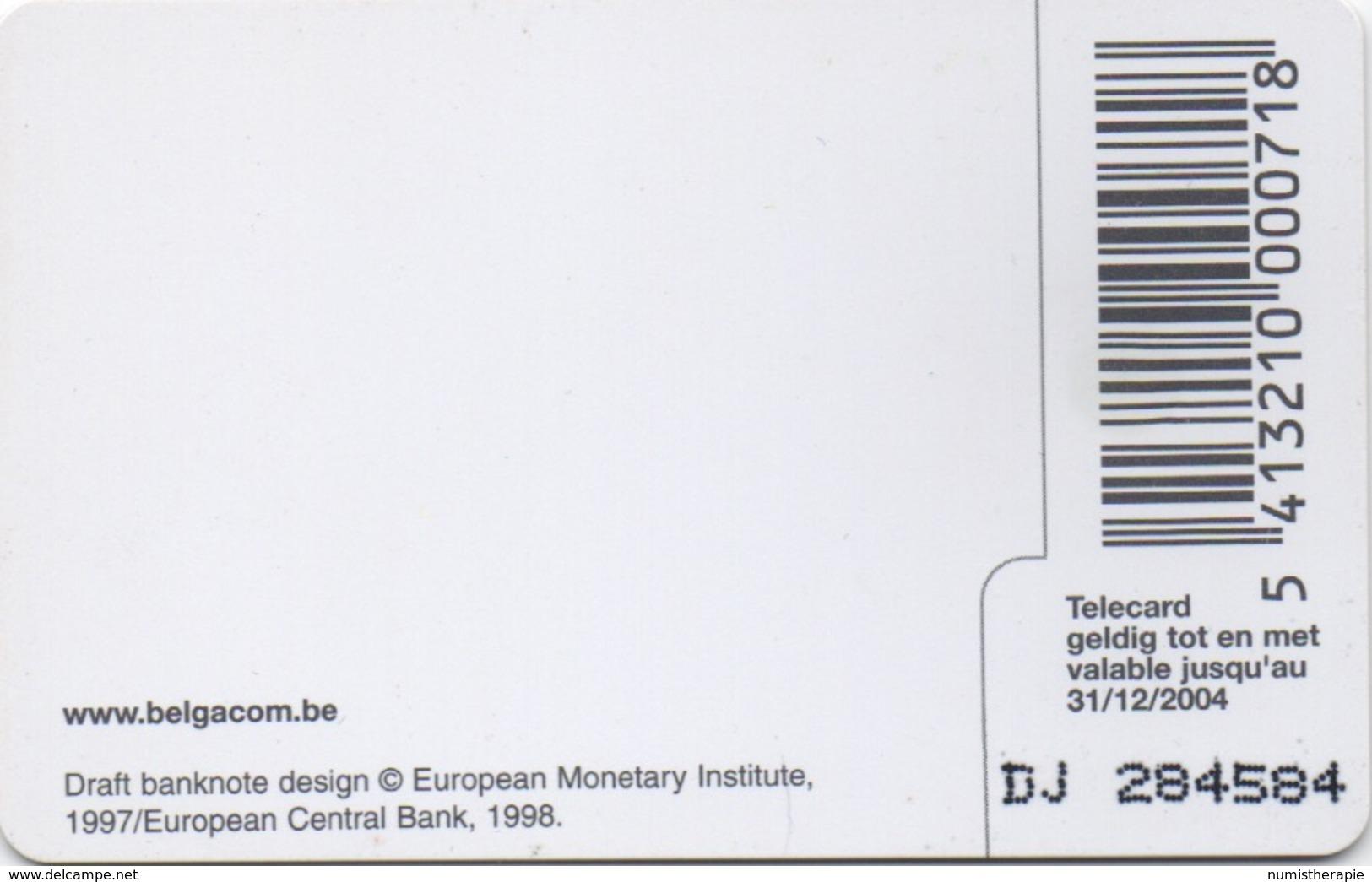 Télécarte Belgacom : 5 EUR Billet De Banque (202 BEF) Valable Jusqu'au 31/12/2004 - Timbres & Monnaies