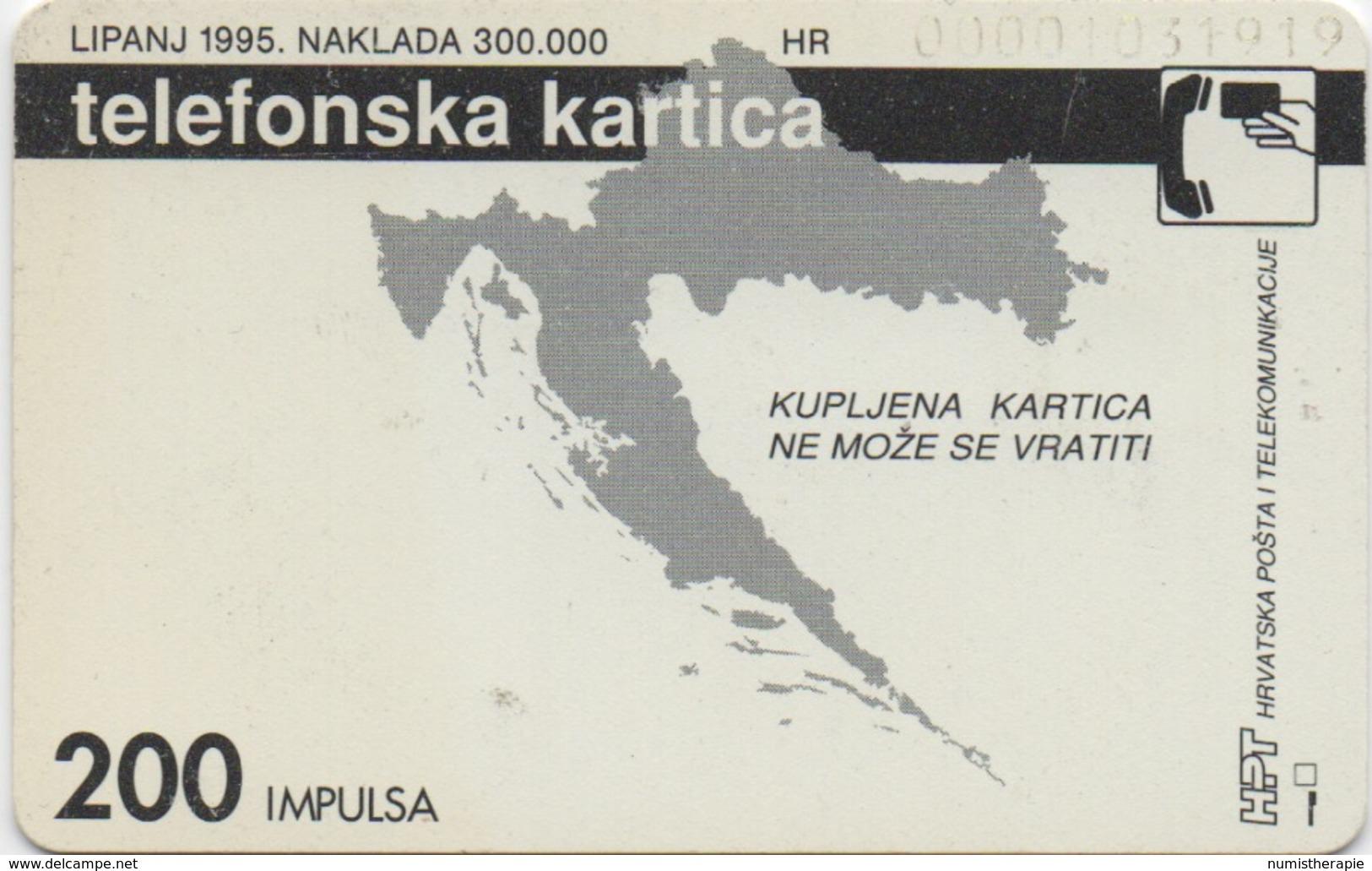 Télécarte Croitie : 200 Kuna Billet De Banque 1995 - Timbres & Monnaies