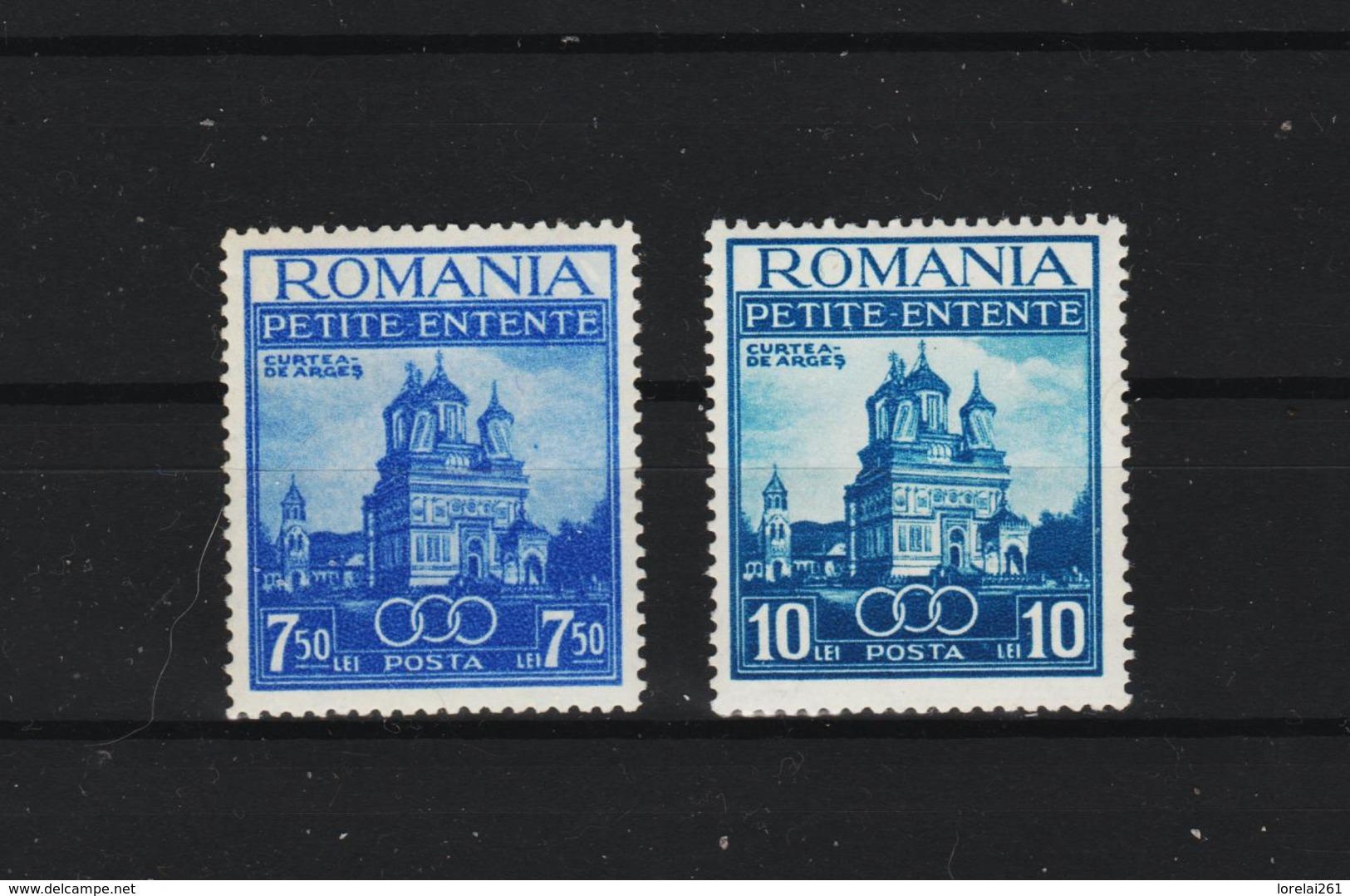 1937 - Petite Entente Mi No 536/537  MNH - Ungebraucht