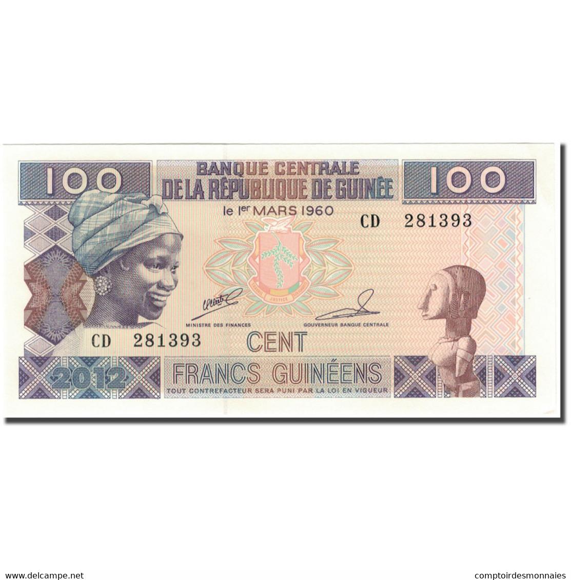 Billet, Guinea, 100 Francs, 1960-03-01, KM:35b, SPL - Guinée