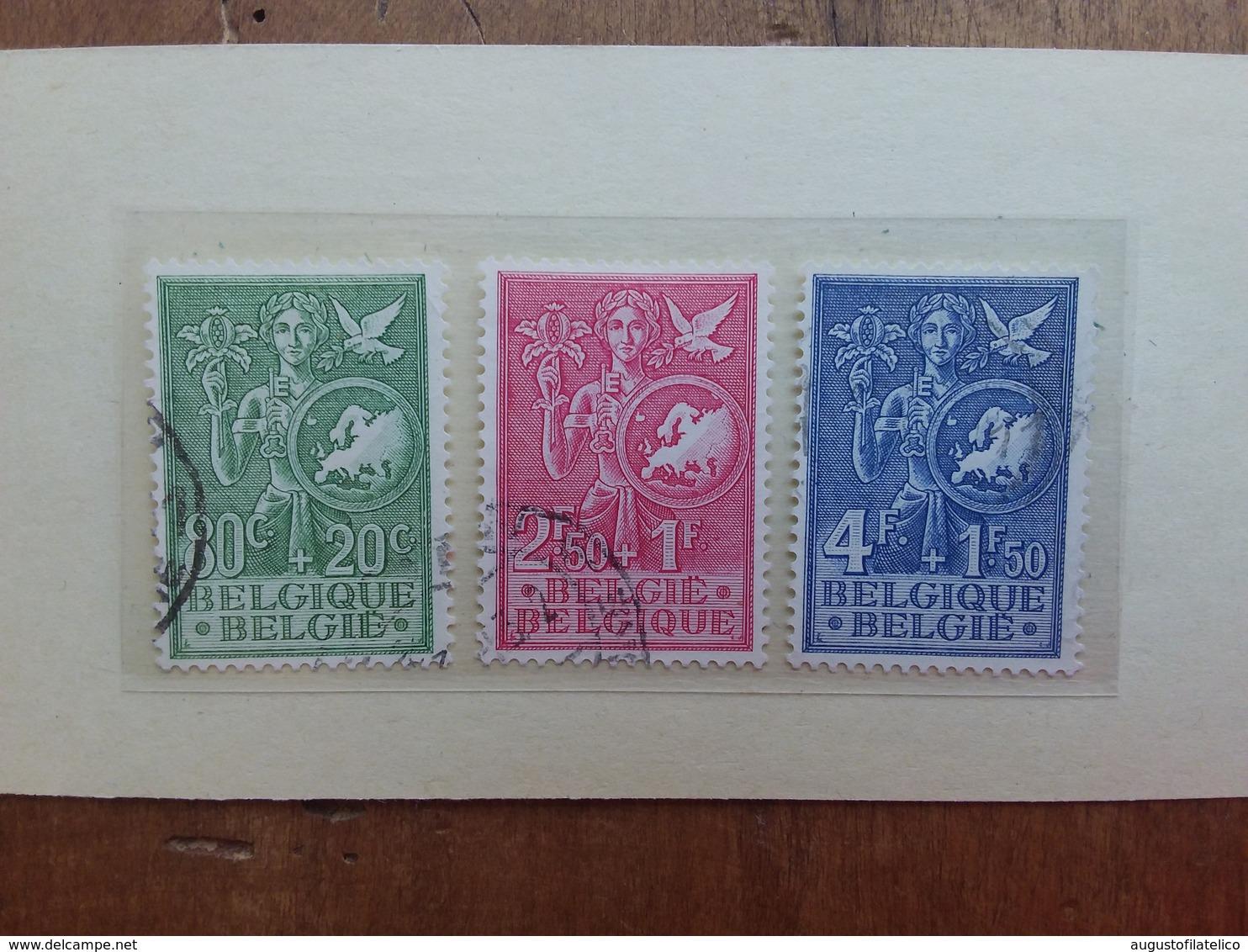 BELGIO 1953 - Ufficio Europeo Gioventù Nn. 927/29 Timbrati + Spese Postali - Belgio