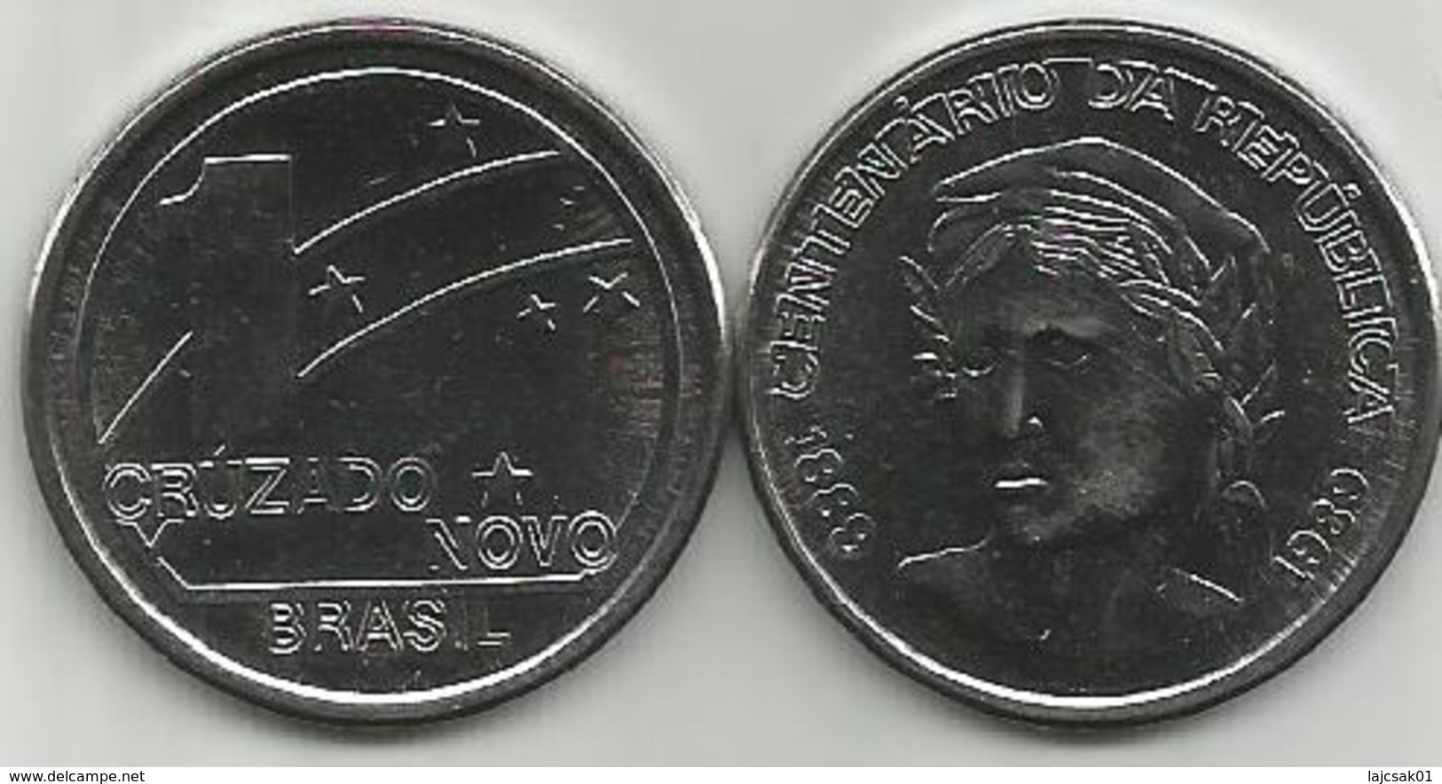 Brazil Brasil 1 Cruzado Novo 1989. High Grade - Brésil