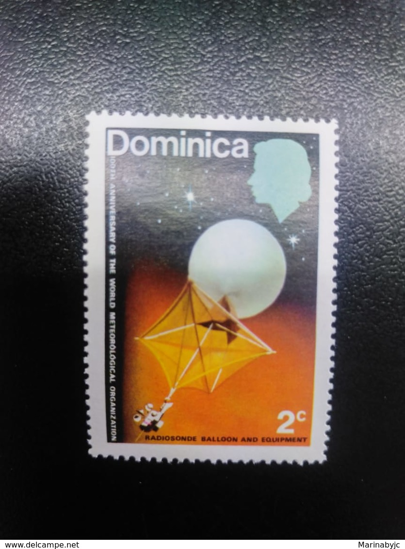 W) 1979 DOMINICA, INTERNATIONAL METEOROLOGICAL COOPERATION STAMP TO COLOR, STARS, MOON - Dominican Republic