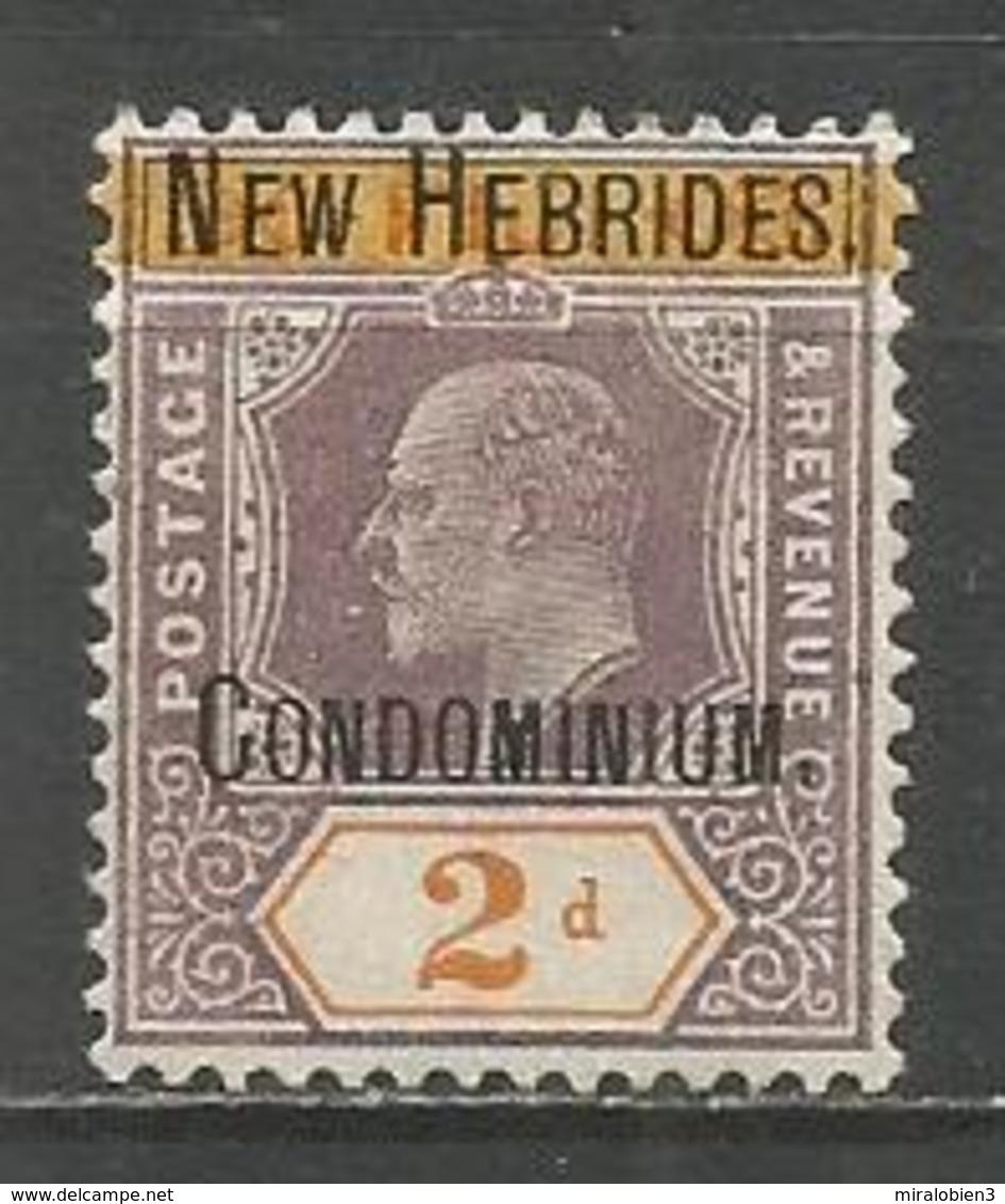 NUEVA HEBRIDES YVERT NUM. 7 NUEVO SIN GOMA - Leyenda Inglesa