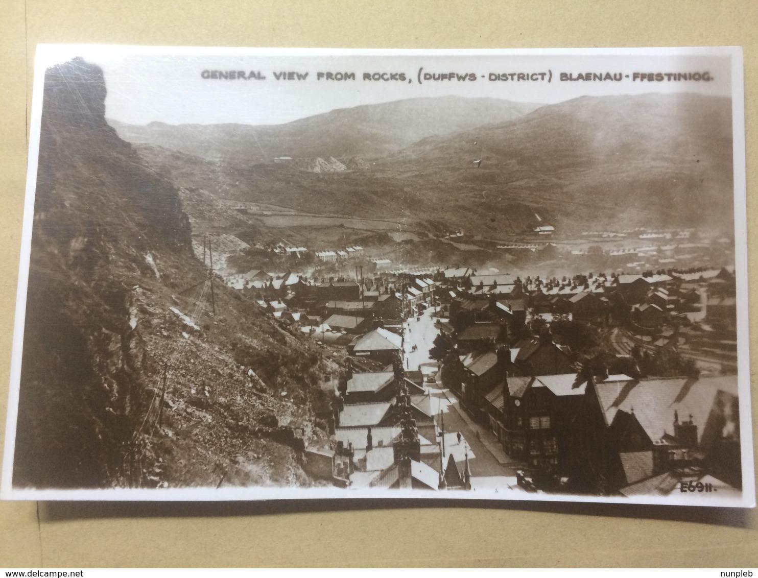 UK - Blaenau-Ffestniog - General View From Rocks - Grosvenor E6911 - Merionethshire
