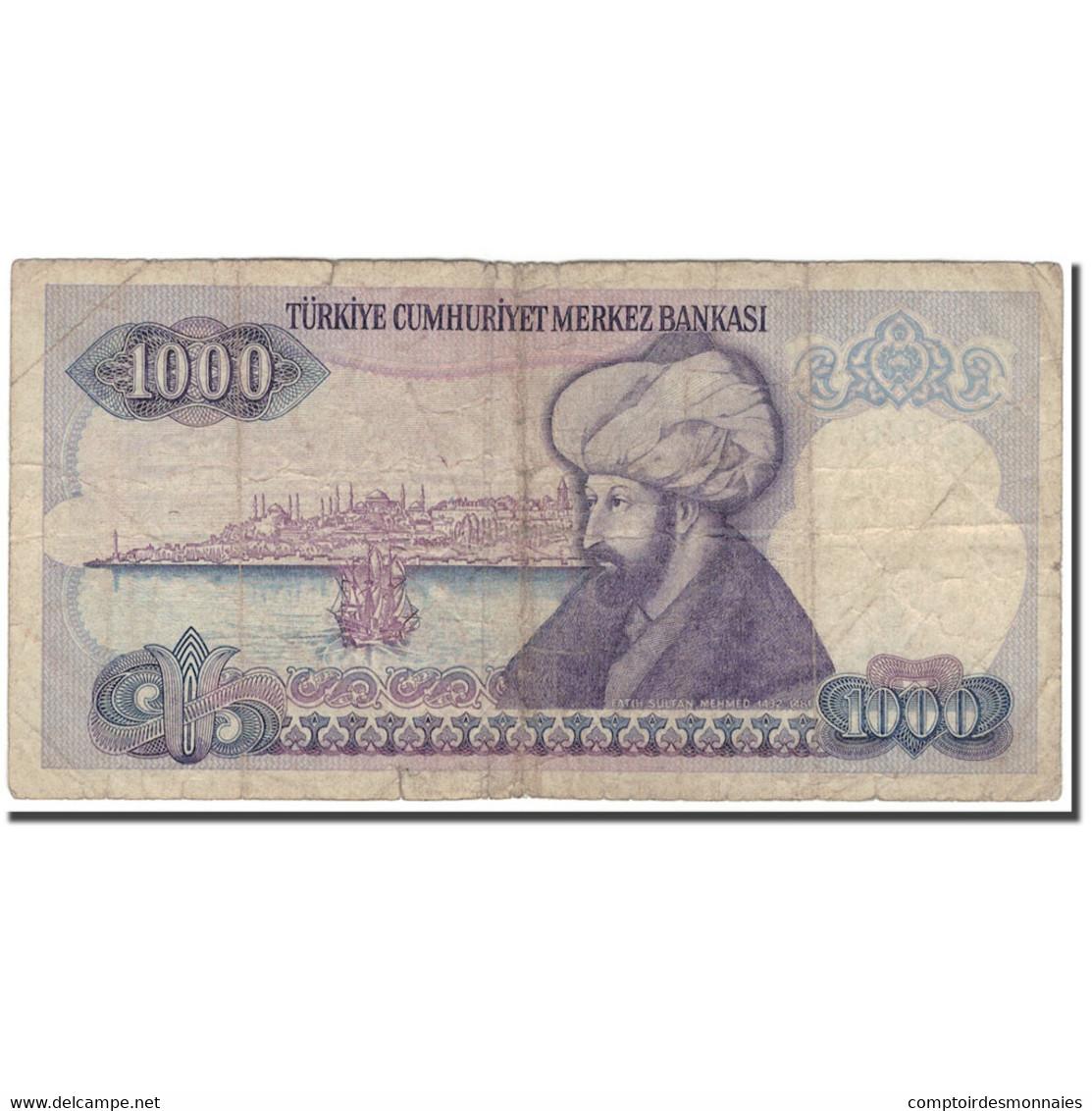 Billet, Turquie, 1000 Lira, KM:196, B+ - Turquie
