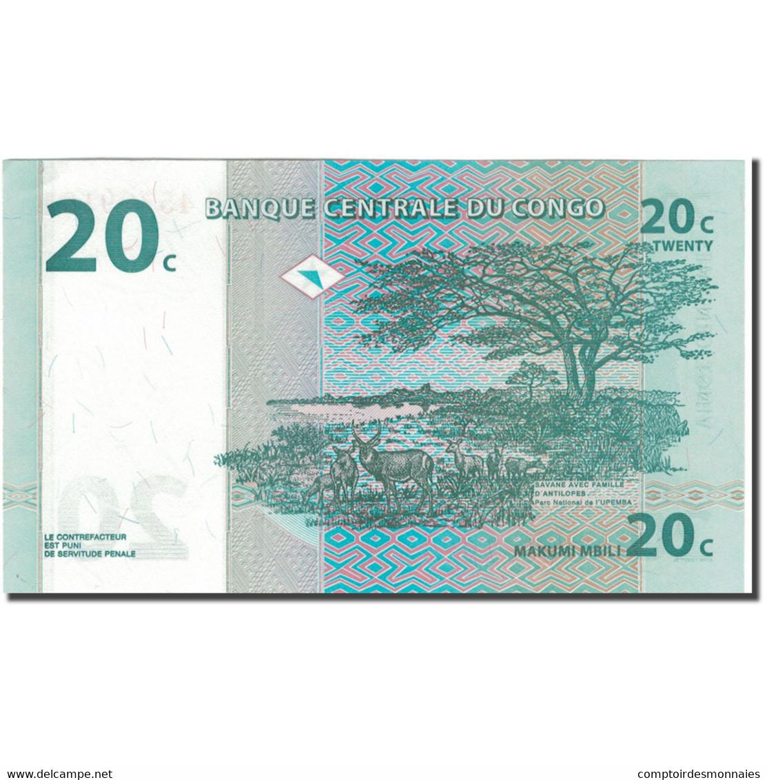 Billet, Congo Democratic Republic, 20 Centimes, 1997-11-01, KM:83a, NEUF - Congo