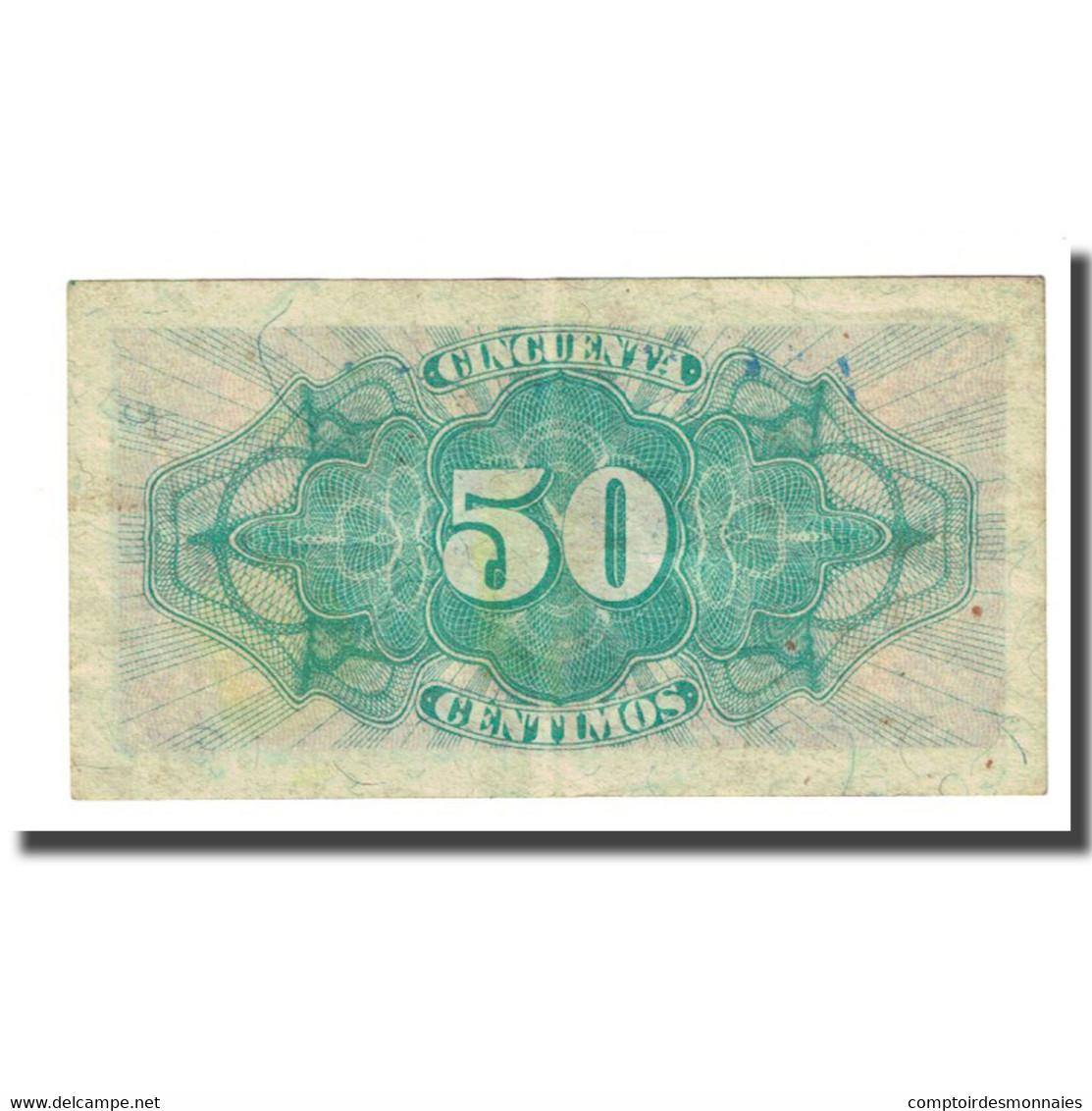 Billet, Espagne, 50 Centimos, 1937, KM:93, TTB - 1-2 Pesetas