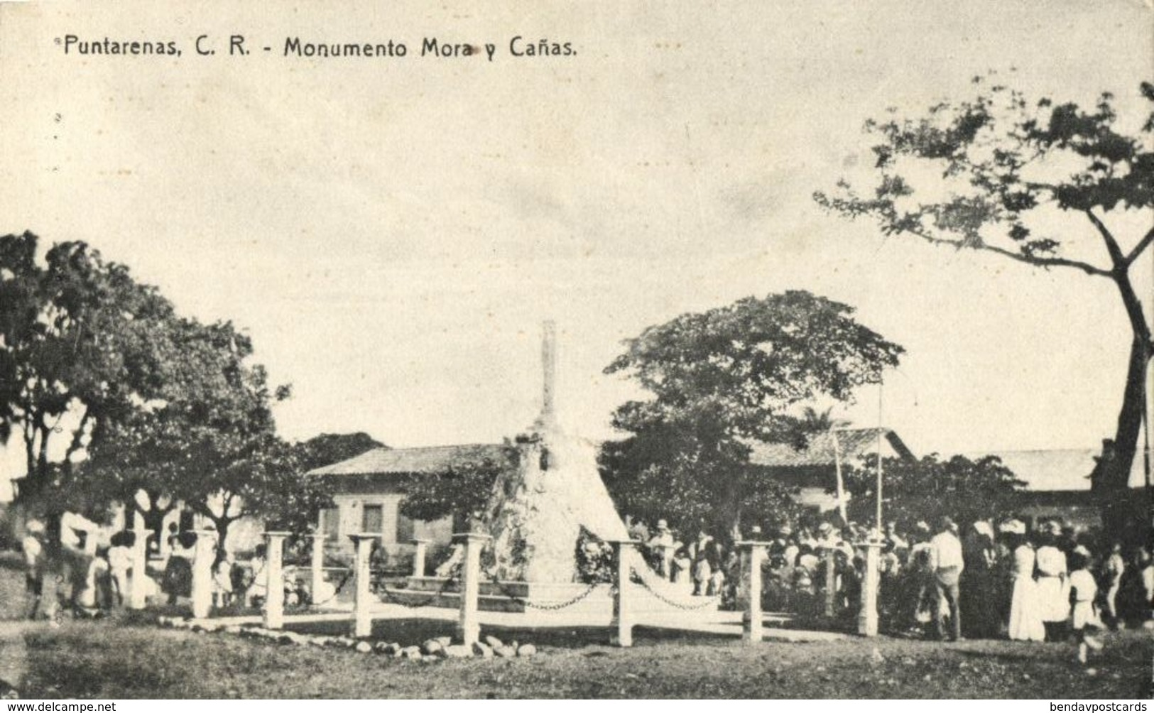 Costa Rica, PUNTARENAS, C.R., Monumento Mora Y Cañas (1910s) Postcard - Costa Rica
