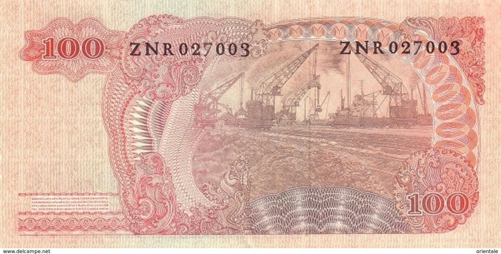 INDONESIA P. 108a 100 R 1968 UNC - Indonésie