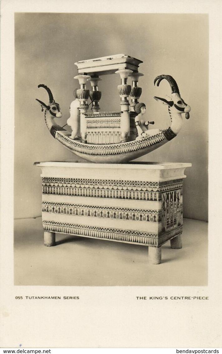 Egypt, Tutankhamen Series, The King's Centre Piece (1930s) RPPC - Museum