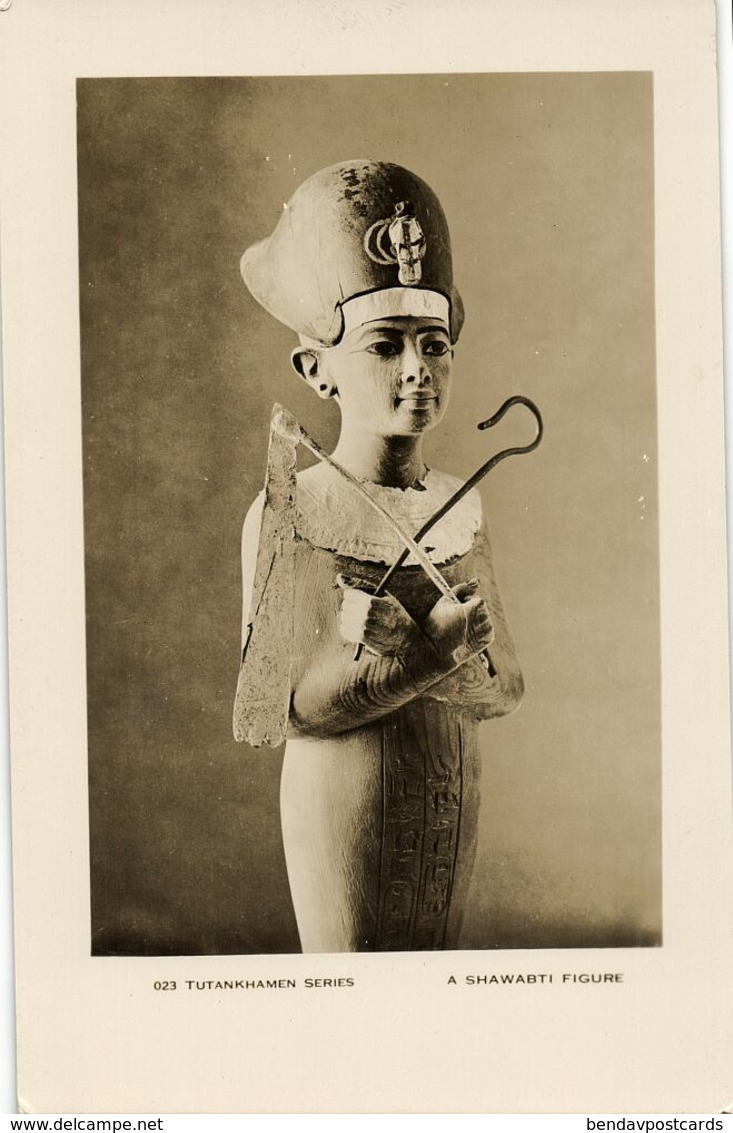 Egypt, Tutankhamen Series, A Shawabti Figure (1930s) RPPC - Museum