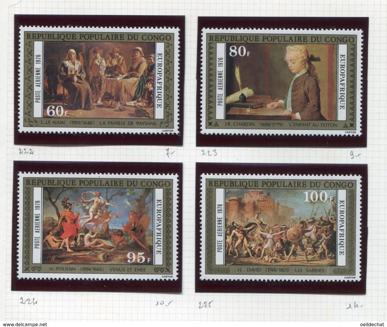 11272  CONGO  Collection Vendue Par Page  PA 222/5 **   1976  TB/TTB - Congo - Brazzaville
