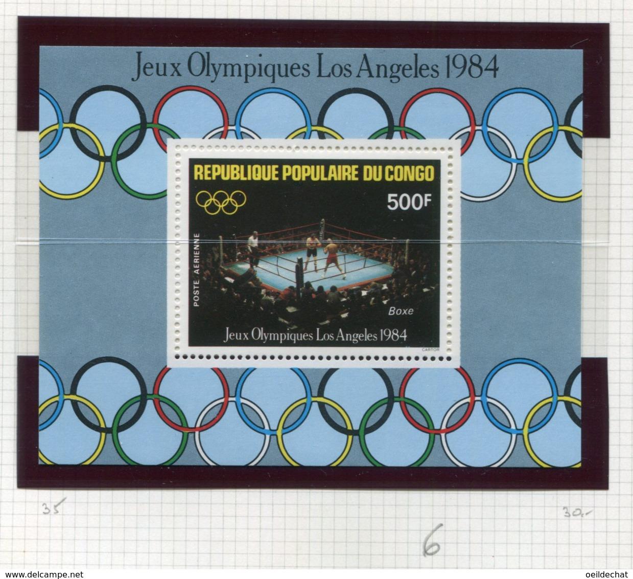 11277  CONGO  Collection Vendue Par Page  BF 35 **Jeux Olympiques D'été à Los Angeles   1984  TB/TTB - Congo - Brazzaville