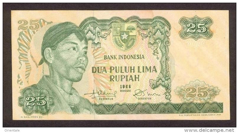 INDONESIA P. 106a 25 R 1968 UNC - Indonésie