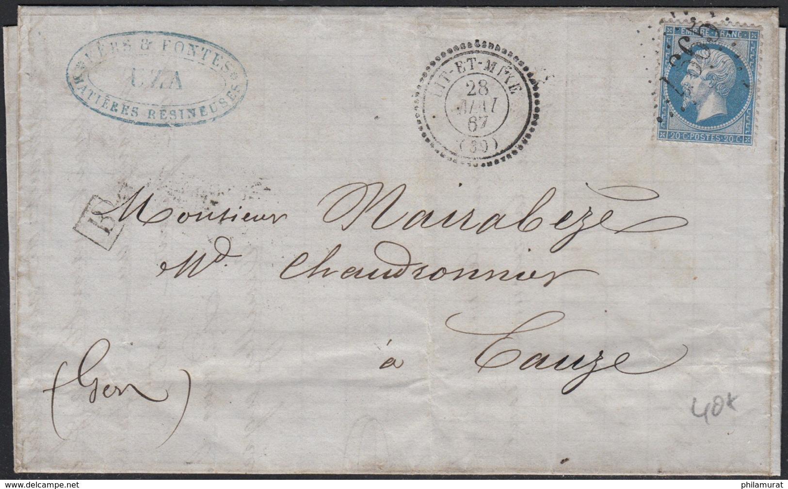Histoire Postale Département 39 LANDES : Lot De 6 Lettres Avant 1900 - 1849-1876: Classic Period