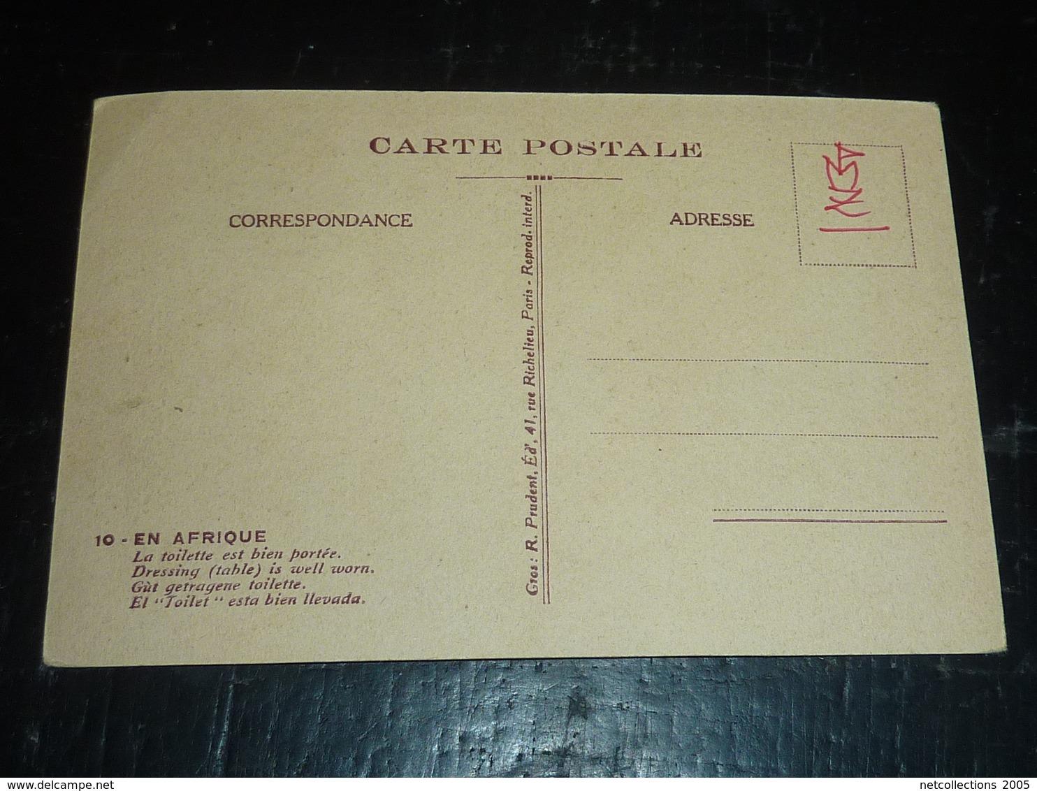 EN AFRIQUE, LA TOILETTE EST BIEN PORTEE - DESSIN HUMOUR - AFRIQUE (AD) - Cartes Postales