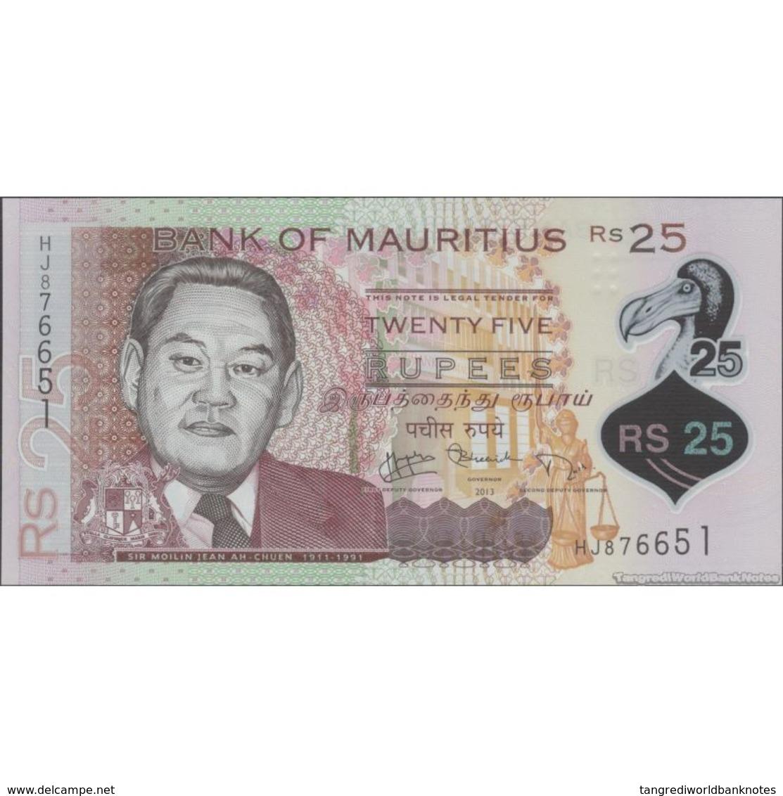 TWN - MAURITIUS 64 - 25 Rupees 2013 Polymer - Prefix HJ UNC - Maurice