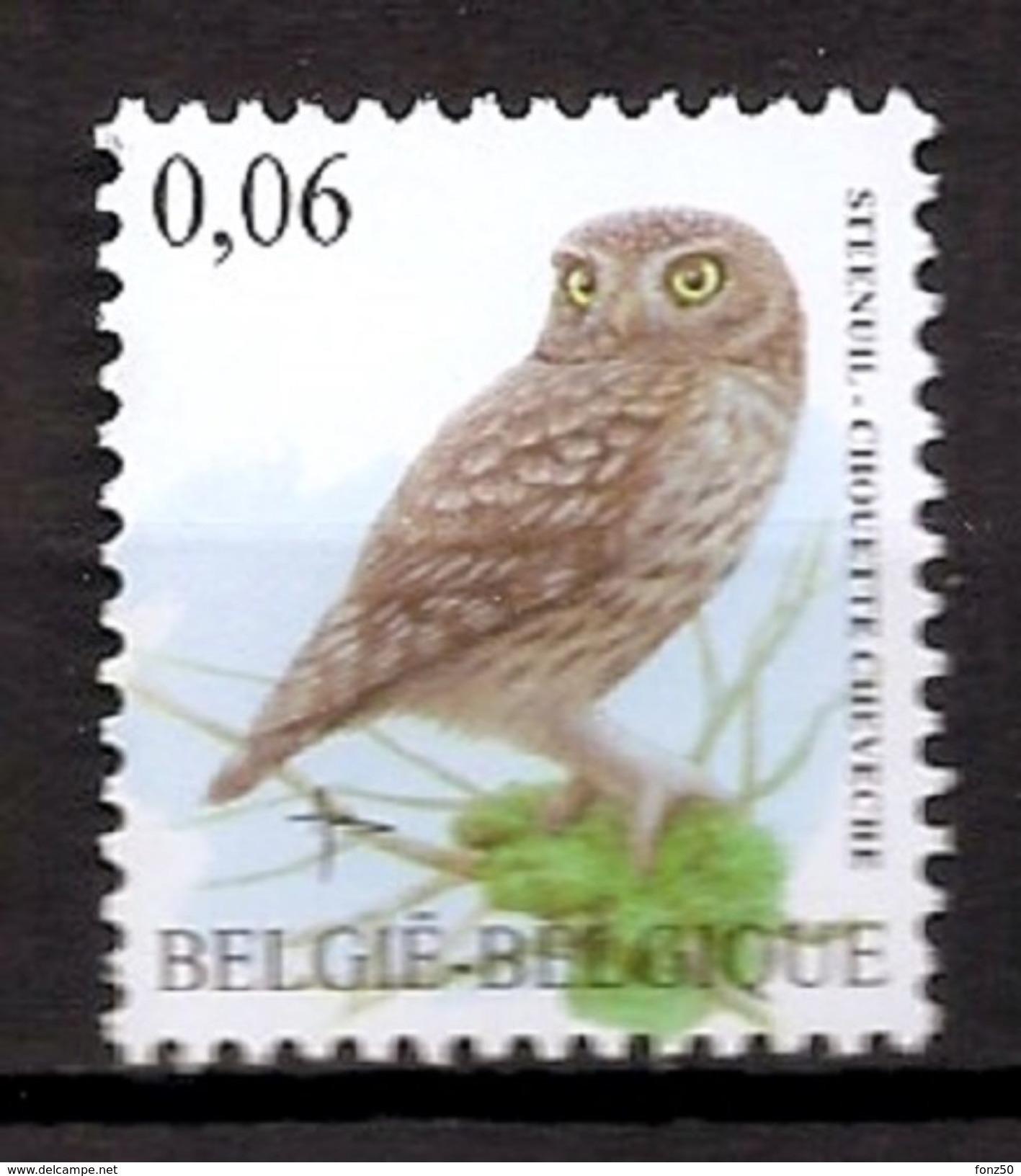 BELGIE * Buzin * Nr 3672 * Postfris Xx *  WIT  PAPIER - 1985-.. Oiseaux (Buzin)