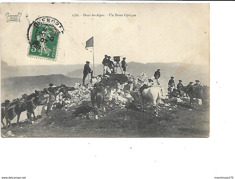 06-SAINT-DALMAS-le-SELVAGE-* Camp Des FOURCHES*-Militaires Chasseurs Alpins-Un POSTE D'OPTIQUE - France