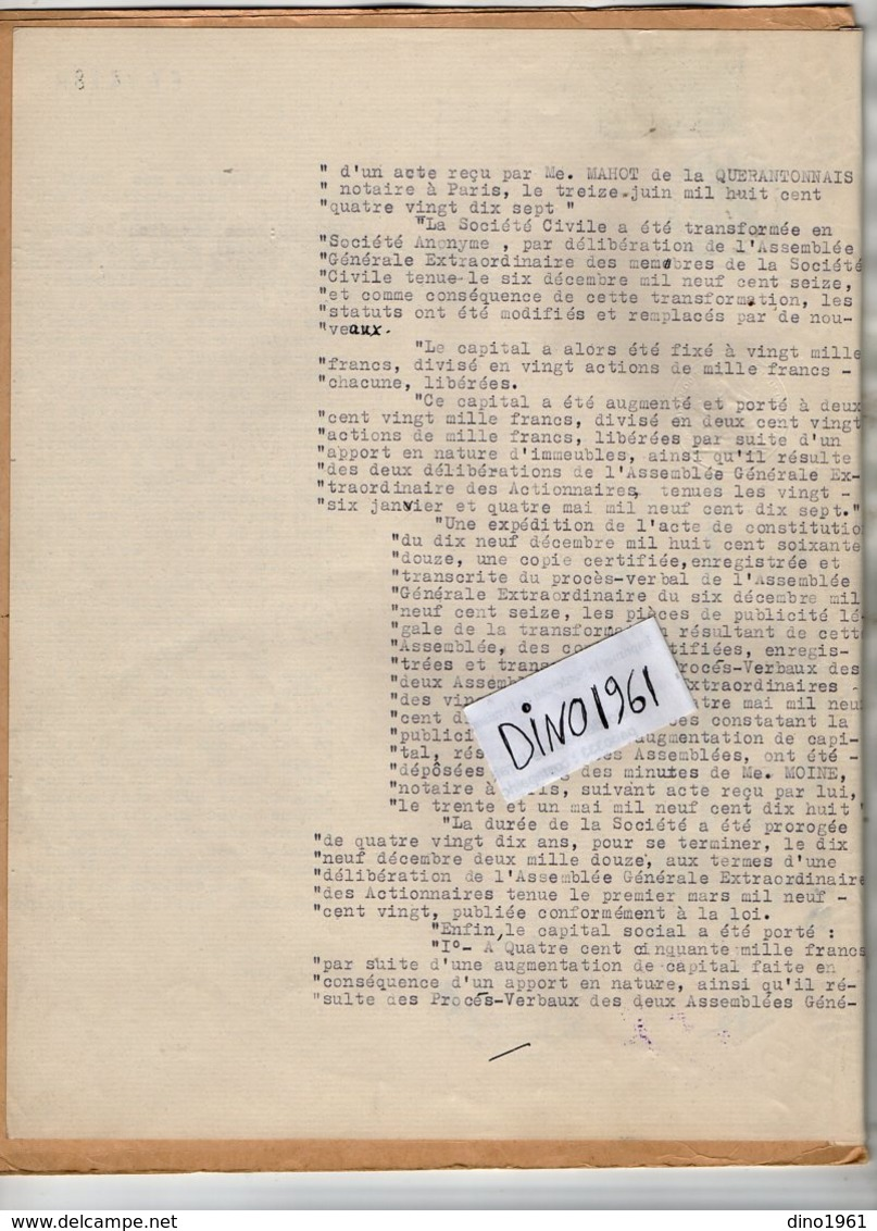 VP14.580 - MOULINS - Acte De 1960 - Vente De La Maison De Sainte Madeleine à L'Association Diocésaine De MOULINS - Collections