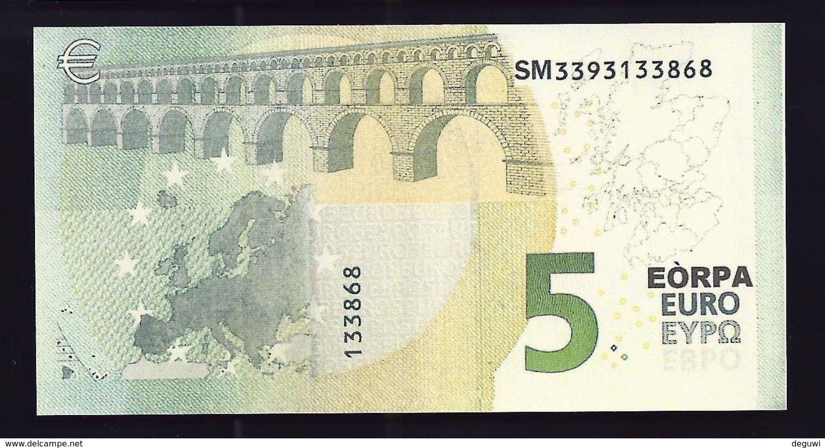 Test Note, Schottland  5 EURO, Testnote, Beids. Druck, RRRR, UNC, 120 X 62 Mm, Trial, Design-Studie - EURO