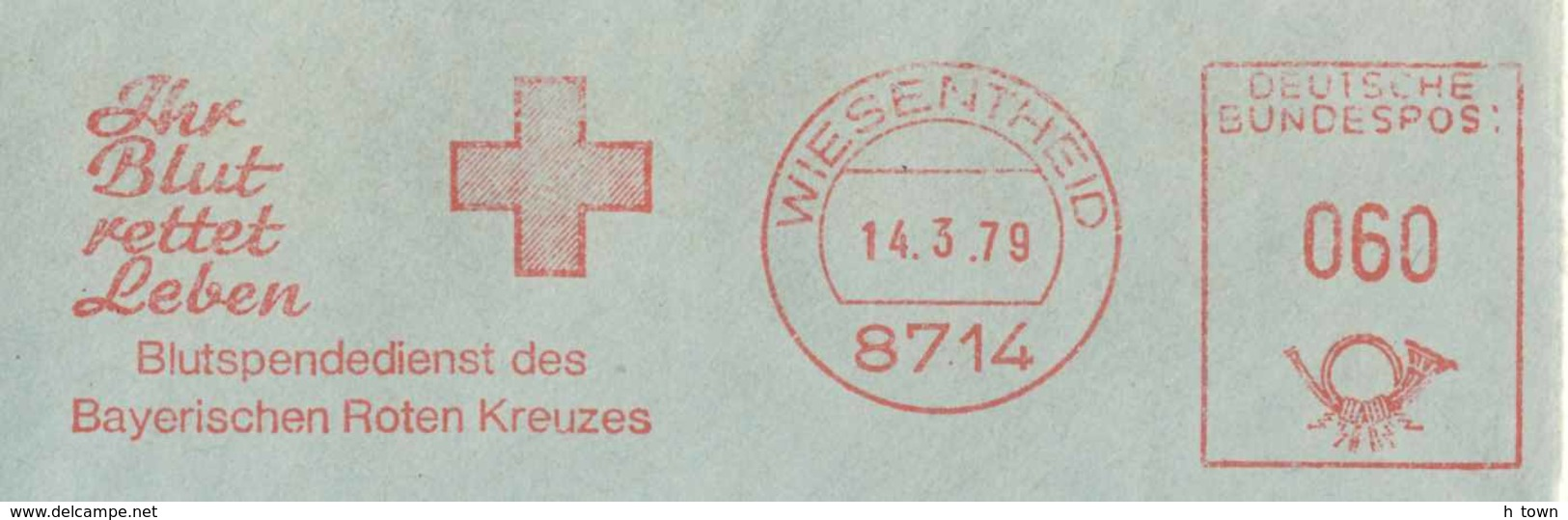 6209  Croix Rouge, Donneur De Sang: Ema D'Allemagne, 1979 -  Blood Donor, Red Cross  Meter Stamp From Germany - Rotes Kreuz