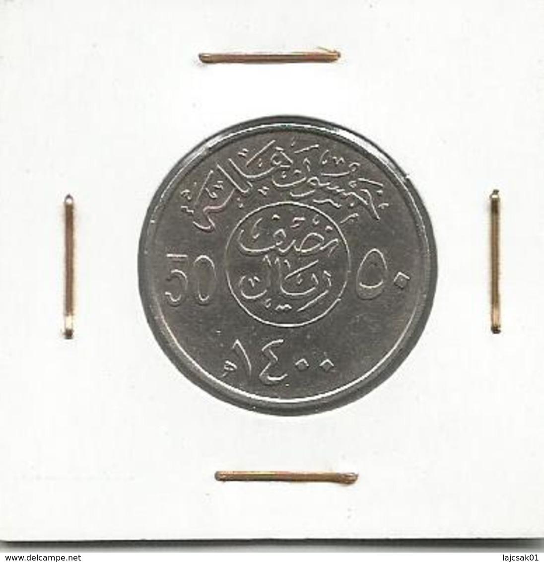 A3 Saudi Arabia 50 Halala 1400 (1979) - Saudi Arabia