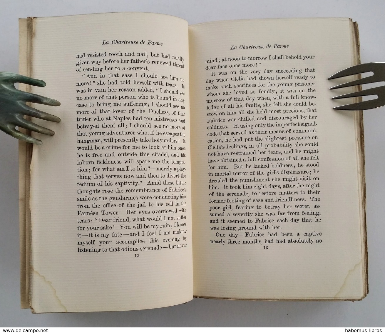 """La Chartreuse De Parme, T.3 / Marie-Henri Beyle ("""" De Stendhal""""). - New York : Brentano's, 1899 - Drames"""