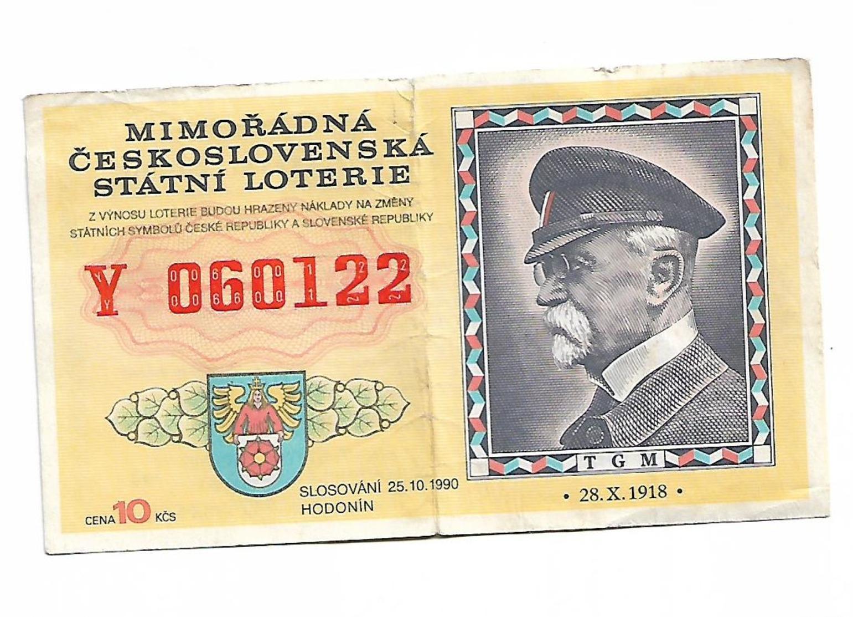 Ceskoslovensko Money Cupon 10 Ksc Lotari Lotto 1990 - Tchécoslovaquie