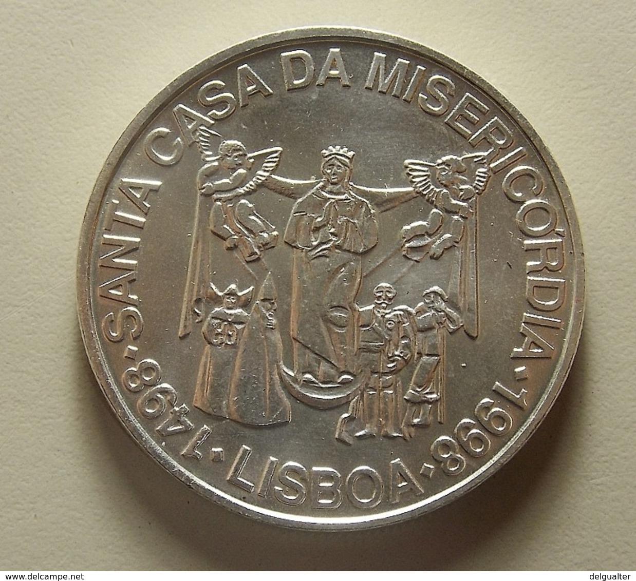 Portugal 1000 Escudos Santa Casa Da Misericórdia Silver - Portugal