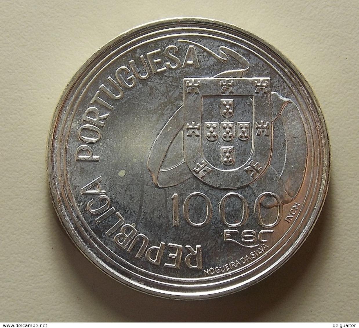 Portugal 1000 Escudos Tratado De Tordesilhas Silver - Portugal