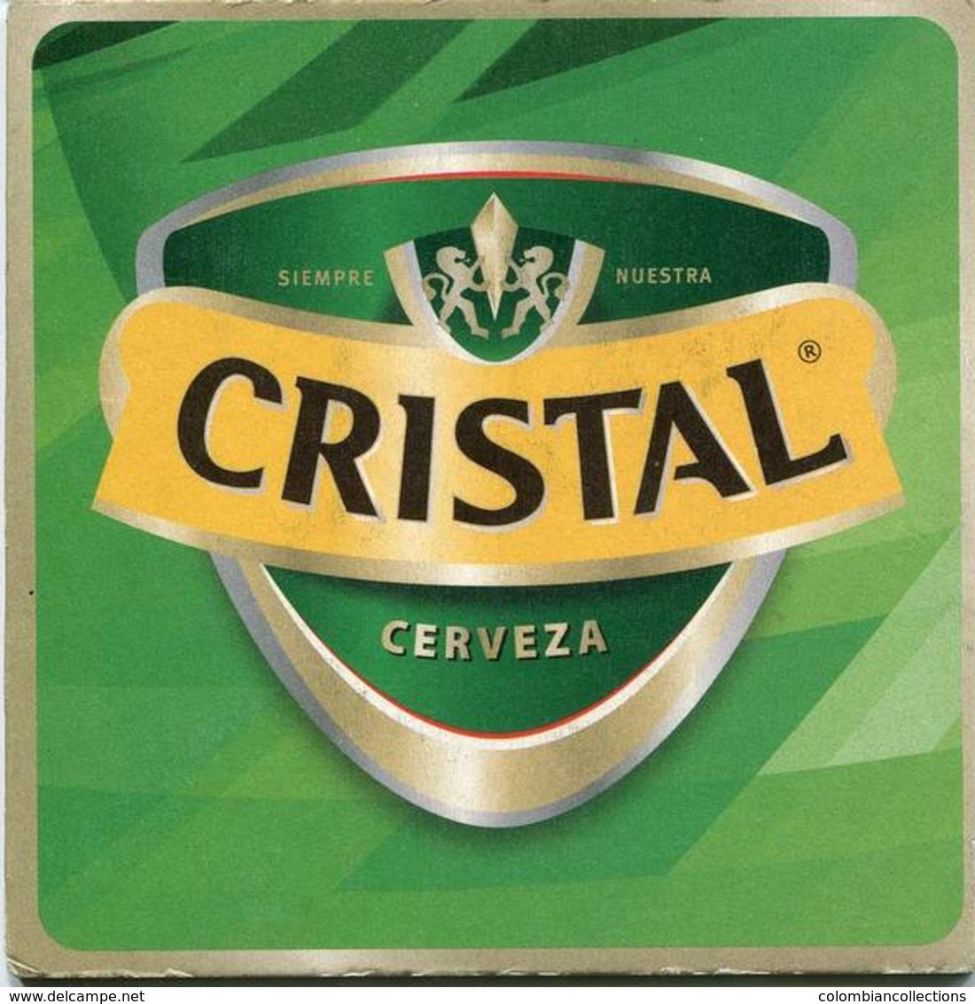 Lote CH19, Chile, Posavaso, Coaster, Cristal, Logo Cuadrada - Portavasos